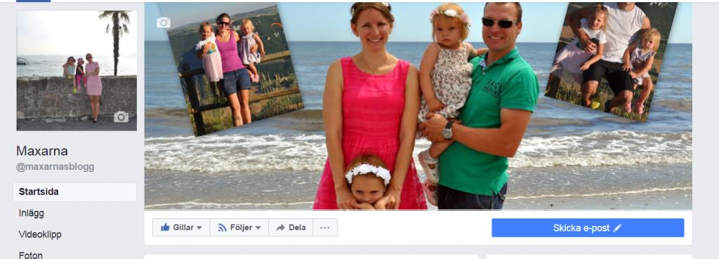 facebooksida för maxarna