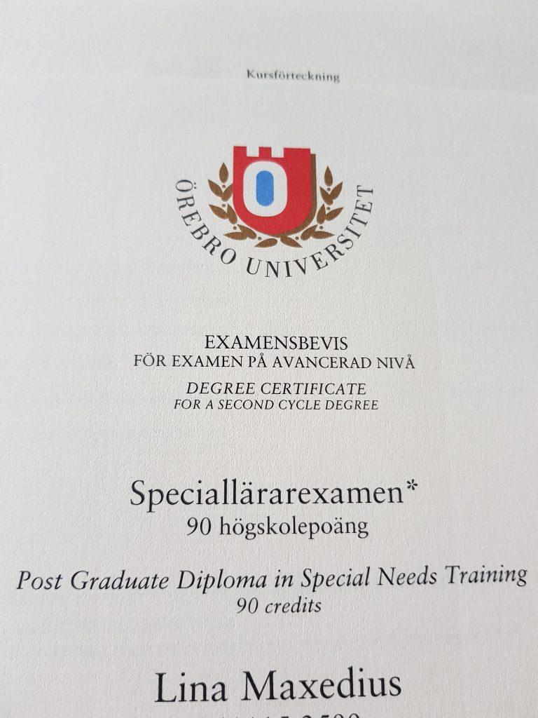 examensbevis flerspråkighet för döva och hörselskadade elever