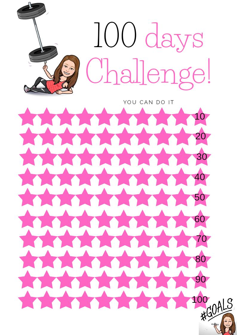 100 days challenge maxarna tränar