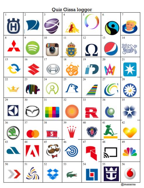 Quiz gissa företagets logga