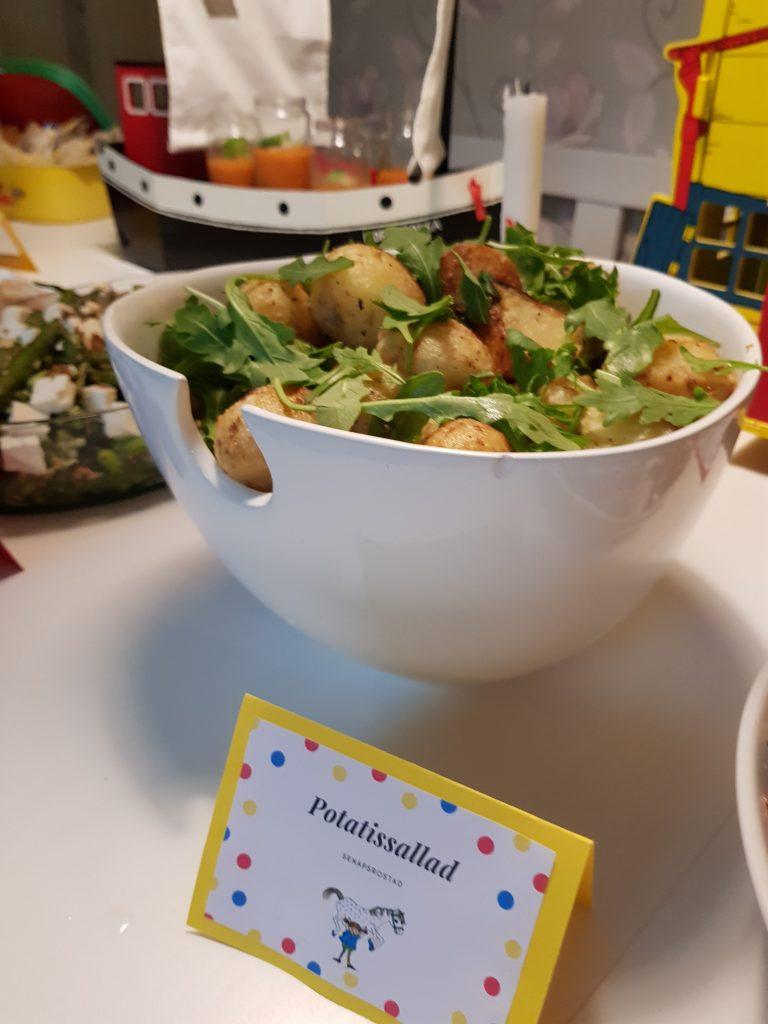 Senapsrostad potatis med ruccola